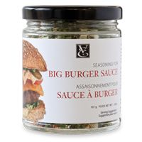 Seasoning for Big Burger Sauce Your new must-have summertime sauce for flavourful burgers, sliders, and side-dipping! Delicious with sandwiches, wraps. Burger Sauces Recipe, Sauce Recipes, Sauce For Rice, Epicure Recipes, Big Burgers, Healthy Sauces, Recipe For Success, Fries In The Oven, Grilled Meat