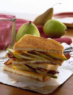 Pear and Bacon Grilled Cheese Sandwich - perfect for any meal, really. #springforpears #usapears