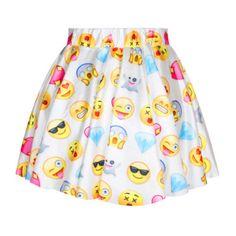 Emoji Skirt With Elastic Waistband, 8 Designs