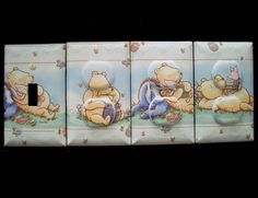 Pooh Light Switch Cover / Outlet Covers / Winnie The Pooh Classic Theme Nursery Decor