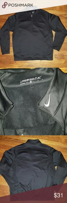 Nike Men's 1/2 Zip Cover up Therma-Fit Sz L Condition- Like New  Absolutely no signs of visible wear. Smoke free home  Never worn. NWOT No defects.  For the golfers who are the first on the course. The Nike Therma-FIT fleece is optimal for battling the frigid morning temperatures. 100% Polyester Double Pique Nike Jackets & Coats