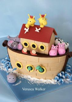 Noah Ark 3D Cake by Verusca Walker based on Debbie Brown cake