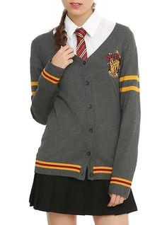 Harry Potter Gryffindor Girls Cardigan, GREY