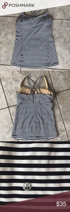 Lululemon Free To Be Tank Size 6- like new! Worn 2-3 Times, no flaws. Removable bra pads included. Cross cross back design. Luxtreme fabric is soft and smooth- will not pill! A great tank to go with any bottom! Offers welcome! 😊 lululemon athletica Tops