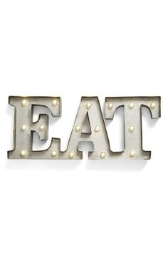 CREATIVE CO-OP 'EAT' LED Marquee Sign available at #Nordstrom