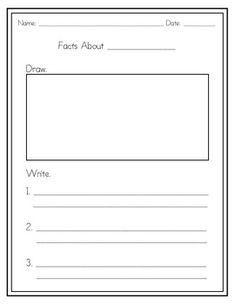 Fact recording sheet for use with ANY non-fiction book or project. ...