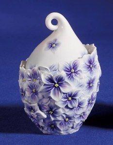 Franz Porcelain Sugar Jar - Franz-Porcelain Hydrangea-Sugar-Jar