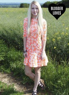 Red Label | Fluro daisy jacquard dress
