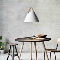 Strap 48 White Pendant Nordic Lights, White Pendant Light, Nordic Style, Modern Interior, Lighting Design, Pendant Lighting, Elegant, Table, Furniture