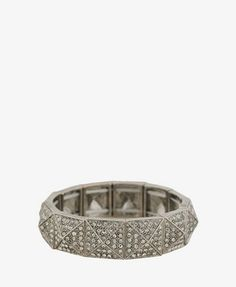 And my obsession with Pyramid Jewelry continues . Rhinestoned Pyramid Bracelet from Ring Bracelet, Bracelets, Plus Size Winter, F21, Shop Forever, Jewelry Box, Latest Trends, Forever21, Wedding Rings
