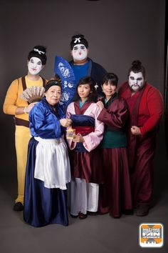 Yao, Ling, Chien-Po, Mulan, Grandma Fa, & Mom Fa.
