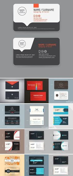 30 free modern business card templates ads pinterest business modern business cards design template stock vectors cheaphphosting Choice Image