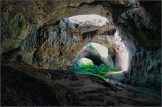 The darkness of the cave is spectacularly lit up by holes of different sizes in its ceiling. Photo by skyscrapercity