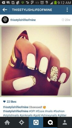 Cute nails. New years eve?