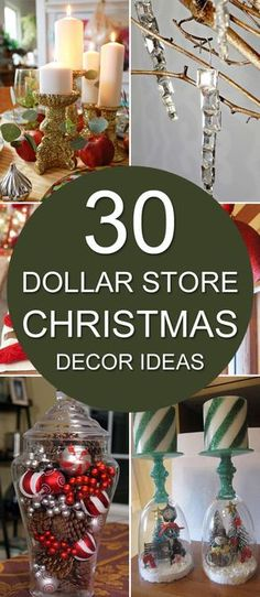 30 Dollar Store Christmas Decor Ideas & 20 Super Easy Inexpensive Decor Ideas for Christmas | Pinterest ...