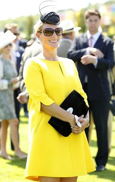 Zara Phillips, who is three months pregnant, watched the races on the third day of Glorious Goodwood