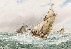 Ostende boats - Frederick James Aldridge