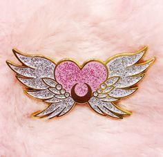 PRE-ORDER Eternal Sailor Moon - lapel enamel pin glitter kawaii anime manga cute glitter sparkle lolita fairy kei pastel pink