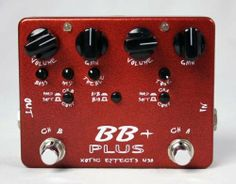 Xotic BB Plus Distortion Overdrive Pedal by Xotic Effects. $224.00. The Xotic Effects BB Plus + Pedal is fashioned with Xotic's widely acclaimed circuitry and very versatile preamp, both channels offer shimmering smooth tone with tons of sustain. Based on the circuitry of the acclaimed BB Preamp, the BB + Plus is a dual mode pedal and has two independent channels that can be cascaded into each other. The order in which they can drive each other is selectable on ...