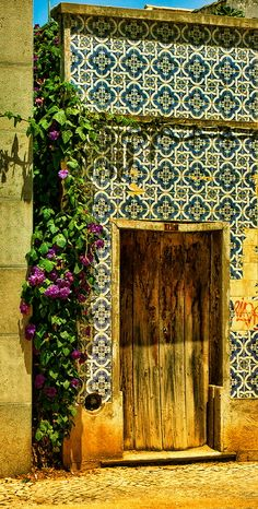 lovely door and tilework