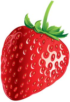 Strawberry Png, Strawberry Clipart, Strawberry Pictures, Fruit Clipart, Realistic Drawings, Art Drawings, Art Mignon, Fruit Picture, Fruits Images