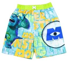 8e3dffdb48 Monsters Inc Green and Blue Toddler Swim Shorts Available Sizes 3T 4T  Provides UPF 50 UV
