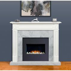 Pearl Mantels The Mike 60 in. x 52 in. MDF White Full Surround – The Home Depot – Fireplace tile ideas House Design, House Styles, White Fireplace Mantels, Fireplace Design, Remodel, Fireplace Mantel Surrounds, White Fireplace, Fireplace Inserts, Home