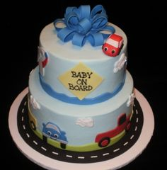 Transportation themed baby shower