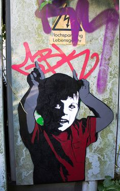 Alias moved from Hamburg to Berlin. He is one of the most known Streetartists in Berlin. Usually he is working with stencils on walls or paper as paste-ups but is also leaving his tags in the city.