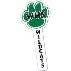 "15"" Paw Shaped Vinyl Cheer Stick from www.schoolspiritstore.com"