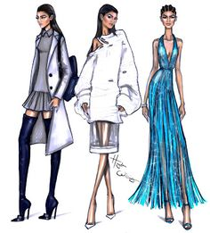 Hayden Williams Fashion Illustrations: Zendaya PFW looks by Hayden Williams