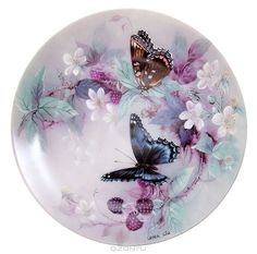 Decoupage Plates, Decoupage Vintage, Vintage Crafts, Vintage Paper, Butterfly Drawing, Butterfly Wallpaper, China Painting, Painting On Wood, Clock Art