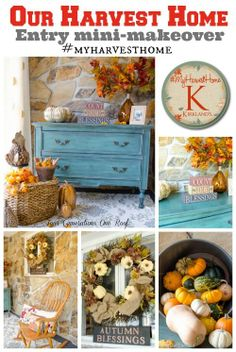 Fall decorating budget entry way mini