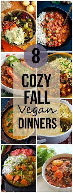8 Cozy Fall Vegan Dinners [Roundup]