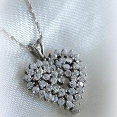 Vintage Jewelry Sterling heart beautiful #gift #Scott's_Marketplace