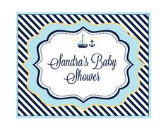 Nautical Baby Shower Party Sign
