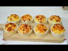 Bacon y queso Quick Recipes, Cooking Recipes, Bacon Muffins, Bread Pudding With Apples, Deli Food, Party Finger Foods, Empanadas, Cupcake Cakes, Cupcakes