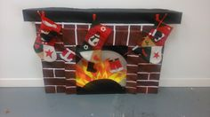 Christmas Crafts and Decoration Ideas, Fireplace DIY