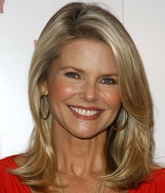 Christie Brinkley Medium Straight Cut - Christie Brinkley Looks - StyleBistro