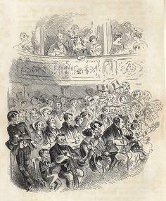 "Dickens's Bleak House - 1873 - """"MR. GUPPY'S ENTERTAINMENT"""" - Steel Engraving"