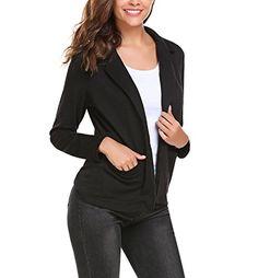 8f68fdc0e9417 KRISP Womens Ladies PU Leather Cropped Jacket Open Blazer Long Sleeve  Bolero Shrug Coat – Fashions   Gifts