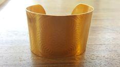 Gold Cuff Bracelet 14k Gold Bracelet Wedding Jewelry by Blumaman
