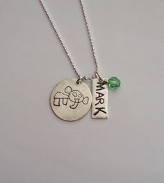 Child's drawing necklace personalized