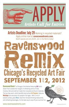 If I'm in town, I need to hit this: Ravenswood Remix in Chicago, Sept.