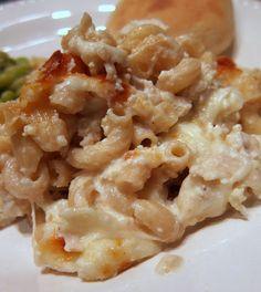 Three Cheese Chicken Alfredo Bake | Plain Chicken