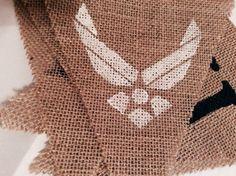 U.S. Air Force Burlap Banner by BushelandPeckHome on Etsy