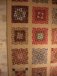 """""""Clarissa"""" by Aline Joulin  inspired by """"Windmill Blade Triangle Quilt"""" by Clarissa White Alford, a Shelburne Museum quilt"""
