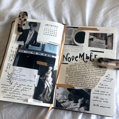 rylie — finally sat down and read this dark academia. Bullet Journal Books, Bullet Journal Inspo, Bullet Journal Ideas Pages, Art Journal Pages, Kunstjournal Inspiration, Art Journal Inspiration, Scrapbooking Stickers, Bullet Journal Aesthetic, Scrapbook Journal