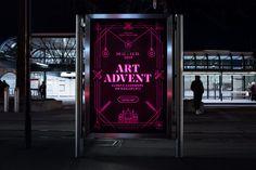 buerox-plakat-art-advent_07 Corporate Design, Advent, Branding, Neon Signs, Art, Kunst, Art Background, Brand Management, Performing Arts