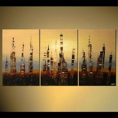 Modern cityscape painting by the artist Osnat Tzadok. Choose from thousands of modern, contemporary and abstract paintings in this online art gallery. Artwork: 'The Rise of Babylon', dimensions: Cheap Canvas Art, Cityscape Art, Landscape Paintings, Oil Paintings, Collaborative Art, Oil Painting On Canvas, Online Art Gallery, Abstract Art, Fine Art